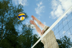 A Man Playing The Ball Stock Image
