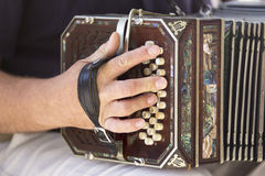 Man playing the bandoneon Royalty Free Stock Images