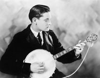 Man playing a banjo Royalty Free Stock Photo
