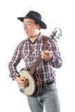 Man playing the banjo Stock Photos