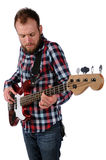 Man Playing Bass Guitar Stock Images