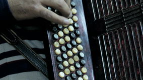 Man playing at Bayan Accordion stock video footage