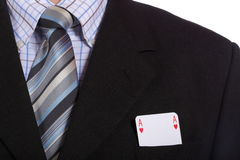 Man and playing cards Stock Images