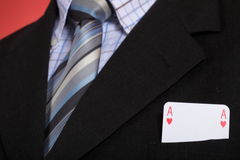 Man and playing cards Royalty Free Stock Photography