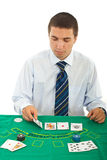 Man playing at casino Royalty Free Stock Photo