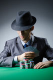 Man playing in the casino Stock Photography