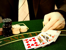 Man playing in the casino royalty free stock photos
