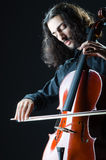 Man playing the cello Stock Photo