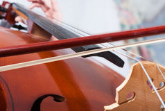 Man playing the cello. stock images