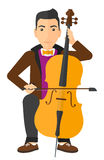 Man playing cello Royalty Free Stock Image
