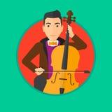 Man playing cello. Stock Photo