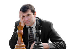Man playing chess Royalty Free Stock Image