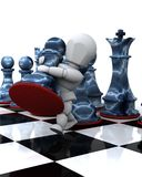 Man playing chess moving a pawn Royalty Free Stock Image