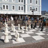 Man playing Chess outdoors Royalty Free Stock Images