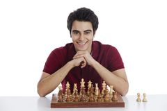 Man playing chess Stock Image