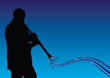 Man playing the clarinet vector illustration