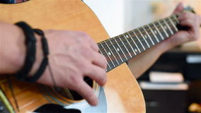 Man Playing On A Classical Guitar stock video