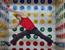 Man playing in climber twister Stock Photography