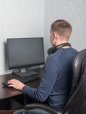 Man playing computer games Stock Photography