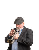 A man playing a Cornet Stock Photo