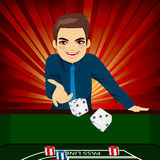 Man Playing Craps Royalty Free Stock Photography