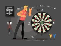 Man playing darts Stock Image
