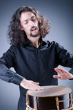 Man playing drum Royalty Free Stock Images