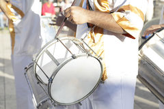 Man playing the drum Stock Images