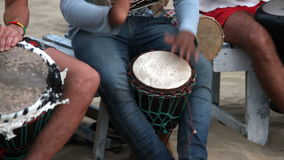 Man playing on drum. Unidentified man playing on drum stock video footage