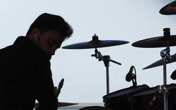 Man Playing Drums Royalty Free Stock Images