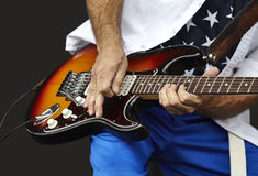 Man Playing and Electric Guitar Royalty Free Stock Photography