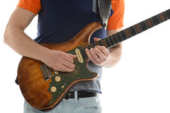 Man Playing Electric Guitar Royalty Free Stock Image