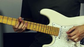 Man playing an electric guitar. Video Footage stock video footage