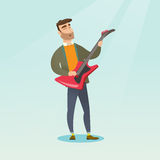 Man playing the electric guitar. Royalty Free Stock Photo