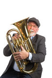 A man playing a Euphonium Royalty Free Stock Photos