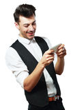 Man playing games Stock Photography