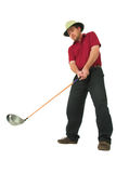 Man playing golf #1. Man playing golf, aiming to take a swing with his club Stock Photos