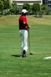 Man playing golf. Dubai Creek. U.A.E Stock Photography