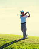 Man Playing Golf stock photography