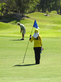 Man playing golf in Thailand Royalty Free Stock Photography