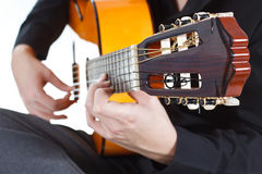 Man playing the guitar Royalty Free Stock Images