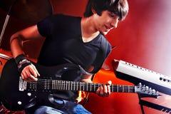 Man playing  guitar. Stock Photo
