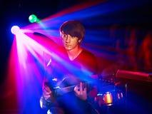 Man playing  guitar. Royalty Free Stock Image