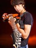 Man playing  guitar. Stock Images