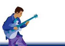 A man playing guitar. Illustration of a man playing guitar vector illustration