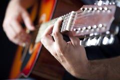 Free Man Playing Guitar Stock Photography - 32546942