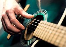 Man playing guitar Royalty Free Stock Photo