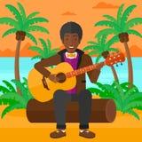 Man playing guitar. Royalty Free Stock Images