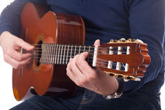 Man playing guitar Stock Photography