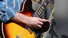 Man Playing Guitar Close Hands stock footage
